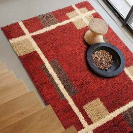 Soft microfiber shaggy carpets for room decoration