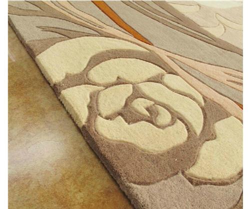 Microfiber 100% Polyester Jacquard Carpets for Livingroom