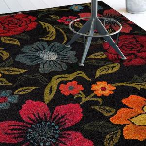 Modern design microfiber flower decorative carpets