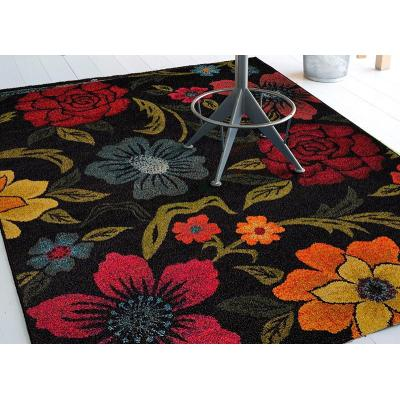 Modern design microfiber flower decorative carpets