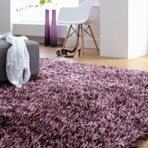 Handtufted long pile polyester material shaggy carpets
