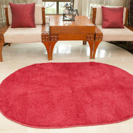 Round microfiber shaggy mats Floor rugs and carpets