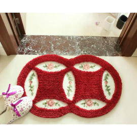High quality antislip  polyester shaggy door rugs