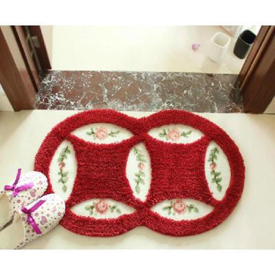 High quality antislip  polyester shaggy door rugs