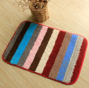 Wholesale 100% polyester kitchen floor mats/front door mats