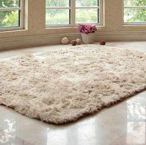 Hot sale long pile polyester material shaggy carpets for livingroom