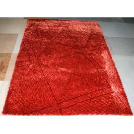 Modern decoration handtufted polyester silk and yarn carpet and rug