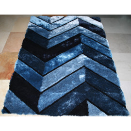 hot sale polyester silk shaggy modern design 3D carpet China