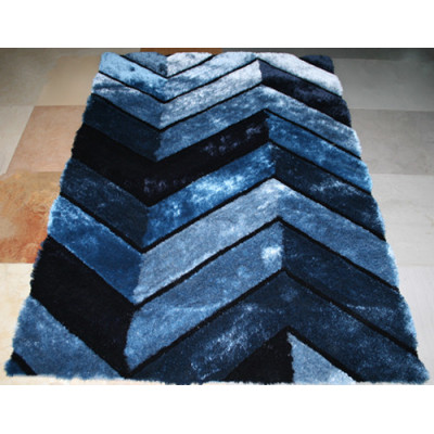 hot sale polyester silk shaggy modern design 3D carpet China