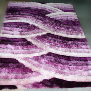 hand tufted 100% polyester 3D shaggy silk carpets ,floor mats,door mats