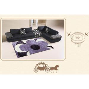 popular design stretch yarn mixed silk polyester shaggy carpet