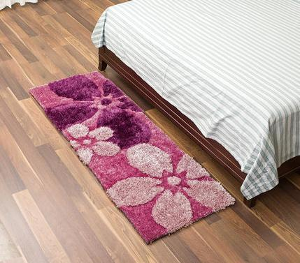 Soft microfiber polyester shaggy bed side floor rugs