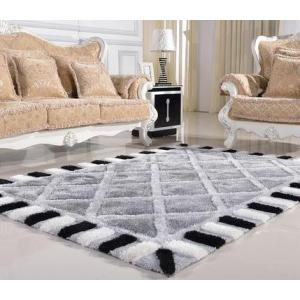 Newest design 100% polyester shaggy carpet and rug