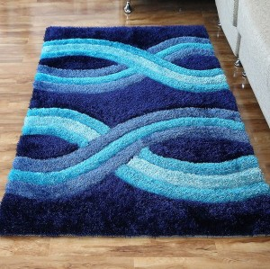 3D Designs Long Pile Polyester Shaggy Carpet For Living Room