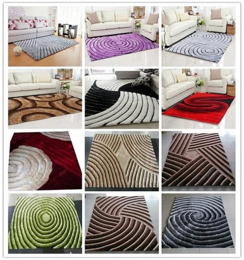 3D Designs Long Pile Polyester Shaggy Carpet For Living Room