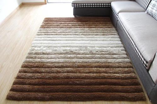 Microfiber Shadow Design 3D Shaggy Carpet