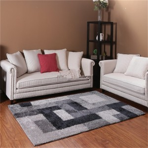 hot sale polyester silk shaggy modern design plain carpet China