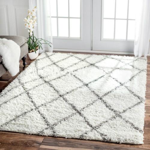 Microfiber 100%  polyester plain shaggy carpets