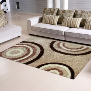 High quality polyester shaggy modern design plain carpets