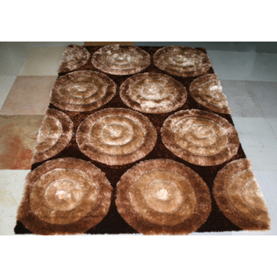 Home Style Soft Material Polyester Silk Shaggy Carpets and Rugs