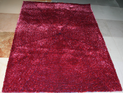 High quality polyester shaggy modern design plain carpets