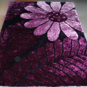 100% polyester shaggy beautiful flower design carpets