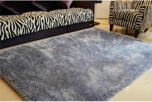 Handtufted polyester stretch yarn shaggy rugs from China