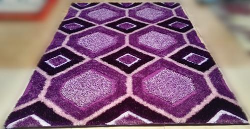 hand tufted 100% polyester 3D shaggy silk carpets ,floor mats,door mats