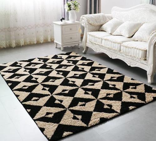 Hot selling handtufted polyester shaggy carpets for livingroom