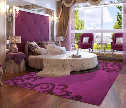 Modern design microfiber 100% polyester carpet from China