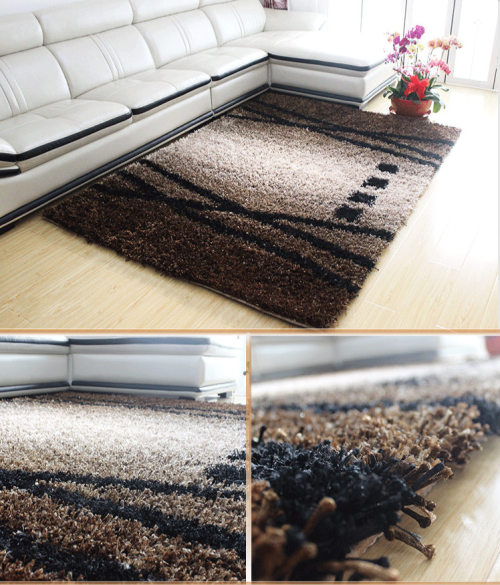 Hand tufted Chinese knot and 1200D silk carpets