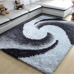 Hand tufted 100% polyester shaggy carpets from Tianjin China