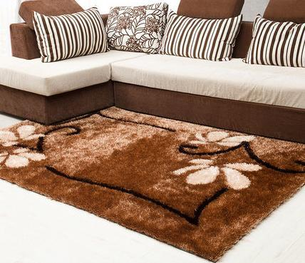 Hand tufted 100% polyester shaggy carpets with different colors