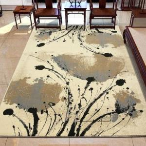 High quality jacquard microfiber  inked style floor carpets