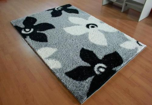 Hand made popular design polyester shaggy carpet and rugs