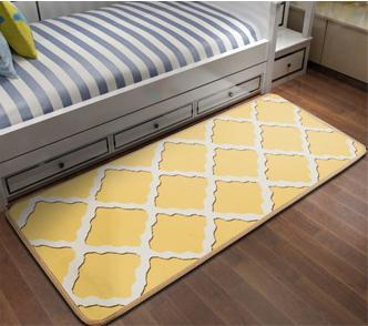 High quality jacquard microfiber rugs bed side mats for bedroom
