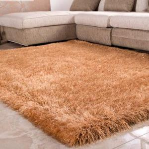 100% Polyester Long Pile Handmade China Plain Stretch Yarn Rugs