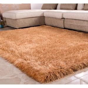 100% Polyester Long Pile Handmade China Plain Stretch Yarn Rugs