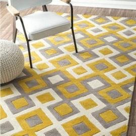Modern design machine made microfiber carpets and rugs