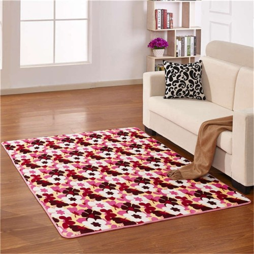 Machine made 100% polyester soft microfiber carpets and rugs