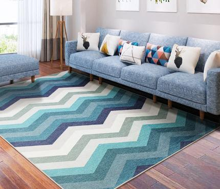 Jacquard microfiber decorative carpet for livingroom