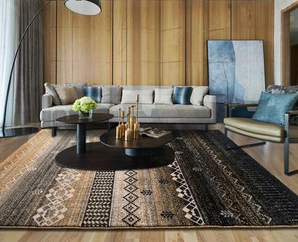 High quality machine-made retro style carpets and rugs