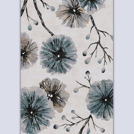 Hot selling soft microfiber material floor rugs for livingroom