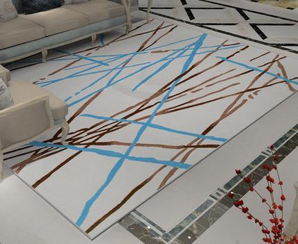 Modern design machine-made 100% polyester floor carpet