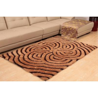 Handtufted 3D silk shaggy rugs for livingroom