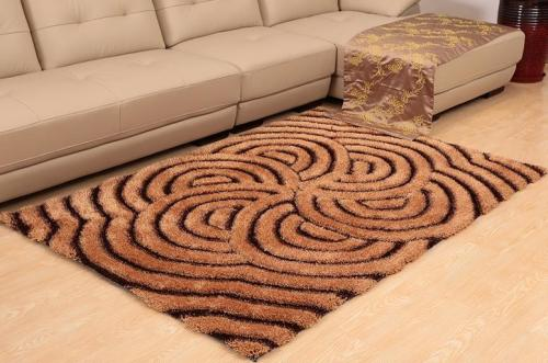 Handtufted 3D silk shaggy rugs for livingroom