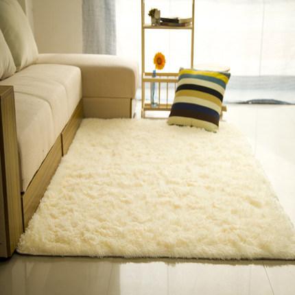 High pile 100% polyester shaggy plain washable carpets tiles