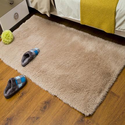 Wholesale handtufted shaggy plain carpets bed side rugs