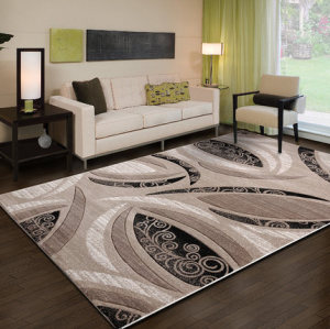 Modern design machine-made 100% polyester carpet for decoration