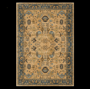 High quality jacquard western style floor carpets for livingroom
